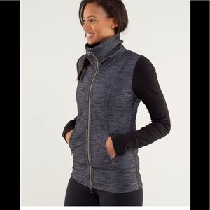 lululemon athletica Jackets & Coats - Lululemon Daily Yoga Jacket denim polar haze/black